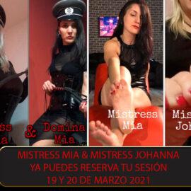 Doble Dominación con Mistress Mia de Barcelona y Mistress Johanna